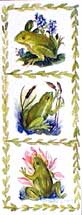 Three panels of frogs; matching card BC0092